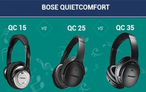 Bose QuietComfort 15 vs 25 vs 35